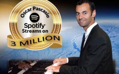 Óscar Pascasio alcanza los 3 millones de reproducciones en Spotify
